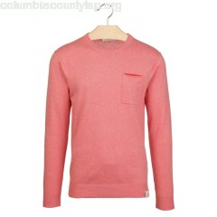 New collection REGULAR-FIT COTTON AND WOOL SWEATER WITH ROUND NECK BOHO BRICK MELANGE SCOTCH AND SODA MEN OZfHhMQj