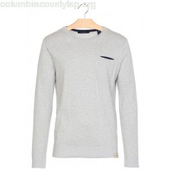 New collection REGULAR-FIT COTTON AND WOOL SWEATER WITH ROUND NECK MOON STONE MELANGE SCOTCH AND SODA MEN O4qFgBvy