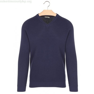 New collection REGULAR-FIT COTTON SWEATER IN A CUTE KNIT NAVY BEST MOUNTAIN MEN 3DEKQ5WY