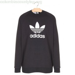 New collection REGULAR-FIT COTTON SWEATER WITH LOGO NOIR ADIDAS MEN 6PzeLeQc