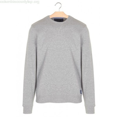 New collection REGULAR-FIT COTTON SWEATSHIRT WITH ROUND NECK GRIS CHINE BEST MOUNTAIN MEN E7O19cFx