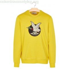 New collection REGULAR-FIT EMBROIDERED COTTON SWEATSHIRT WITH ROUND NECK JAUNE D'OR CHEVIGNON MEN fYb4iYqj