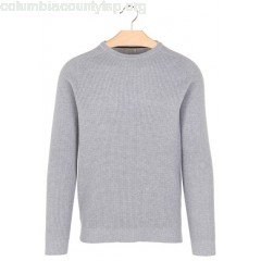 New collection REGULAR-FIT ROUND-NECK COTTON MOSS STITCH SWEATER GRIS CHINE BEST MOUNTAIN MEN m6B4pHS6