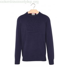 New collection REGULAR-FIT ROUND-NECK COTTON SWEATER MARITIME BLU TIMBERLAND MEN MKIm9klt