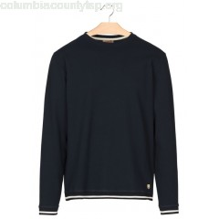 New collection REGULAR-FIT ROUND-NECK COTTON SWEATER RICH NAVY ARMOR LUX MEN bDi44b5G