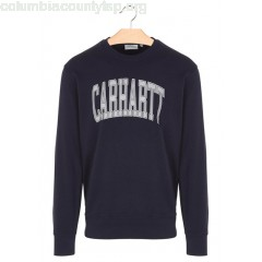 New collection REGULAR-FIT ROUND-NECK COTTON SWEATSHIRT WITH SCREEN PRINT 1C90-DARK NAVY / MULTICOLOR CARHARTT WIP MEN jvcH3lXH
