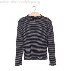 New collection REGULAR-FIT STRIPED COTTON ROUND-NECK SWEATER MARINE IKKS MEN WtjfW4pL