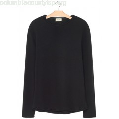 New collection REGULAR-FIT WOOL AND CASHMERE SWEATER NOIR AMERICAN VINTAGE MEN xyFjPAiA