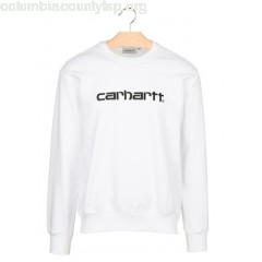 New collection ROUND-NECK REGULAR-FIT SWEATER WITH EMBROIDERED LOGO 0290-WHITE / BLACK CARHARTT WIP MEN 3Xr0sYiq