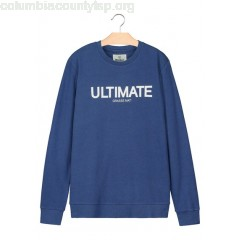 New collection ROUND-NECK SLOGAN LIGHTWEIGHT SWEATER BLEU PETROLE BIZZBEE MEN IeLcVihk