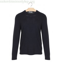 New collection ROUND-NECK WOOL SWEATER NAVY BLUE SANDRO MEN qnCx39FX