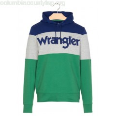 New collection SCREEN-PRINTED COLORBLOCK SWEATSHIRT AMAZON GREEN WRANGLER MEN xH4nVNmA