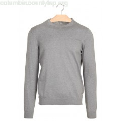 New collection SLIM-FIT ROUND-NECK COTTON SWEATER GRIS CHINE CLAI CHEVIGNON MEN DlOS7ZKA