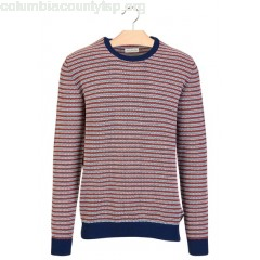 New collection STRIPED ROUND-NECK COTTON SWEATER ENCRE/ECRU HARRIS WILSON MEN yicae6VD