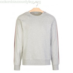 New collection SWEATER WITH RAGLAN SLEEVES AND TRIM GRIS CHINÉ SANDRO MEN KlXH9FDa