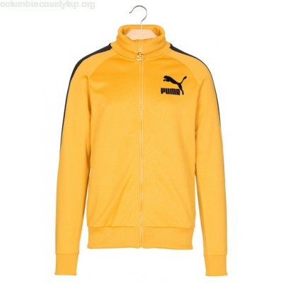 New collection TRACK JACKET WITH FLOCKED LOGO YELLOW PUMA MEN RzeLVmKl