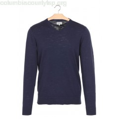 New collection V-NECK KNITTED SWEATER NAVY HARTFORD MEN Kh2Uj95A