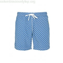 New collection PRINTED SWIM SHORTS WHITE / BLUE GRAPHIC PRINT HARTFORD MEN bLBRRuQP