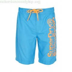 New collection SCREEN-PRINTED SWIM SHORTS OCEAN BLUE SUPERDRY MEN s8L6CsnG