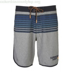 New collection STRIPED SWIM SHORTS SMOKE GREY GRIT SUPERDRY MEN c5MYOZNG