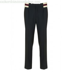 New collection PLEATED PANTS WITH KNIT WAISTBAND MARINE SANDRO MEN NYV4vq8s