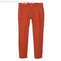 New collection SLIM CROPPED CHINOS NARANJA MANGO MEN 0OE5O5rD