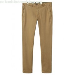 New collection SLIM-FIT COTTON CHINOS TABACO MANGO MEN dznLmZou