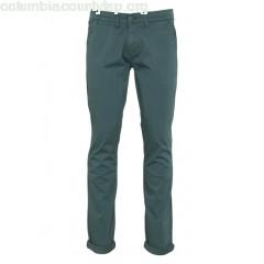 New collection SLIM-FIT CUFFED COTTON CHINOS IRISH GREEN LE TEMPS DES CERISES MEN eCLUz3g4