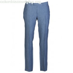 New collection SLIM-FIT LINEN PANTS BLEU SANDRO MEN arYoGhJj