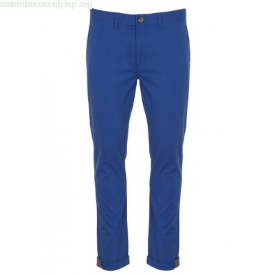 New collection STRETCH COTTON SKINNY CHINOS BRIGHT BLUE BEN SHERMAN MEN St03ACxH