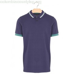 New collection CONTRASTING-COLLAR REGULAR-FIT COTTON POLO SHIRT 873-MOONBLUE MARC O'POLO MEN VcZBqHLa