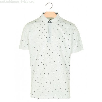 New collection FEATHER PRINT POLO SHIRT BLANC BEST MOUNTAIN MEN VGkaZrkB
