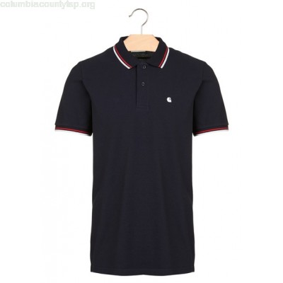 New collection REGULAR-FIT COTTON PIQUÉ POLO SHIRT 1C90-DARK NAVY / WHITE / GOJI CARHARTT WIP MEN V4xqdE2S
