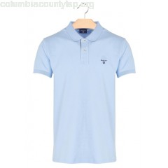 New collection REGULAR-FIT COTTON PIQUÉ POLO SHIRT BLEU CAPRI GANT MEN TIeSAc35