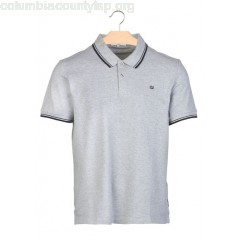 New collection REGULAR-FIT COTTON PIQUÉ POLO SHIRT GREY BEN SHERMAN MEN rmvUFYWW