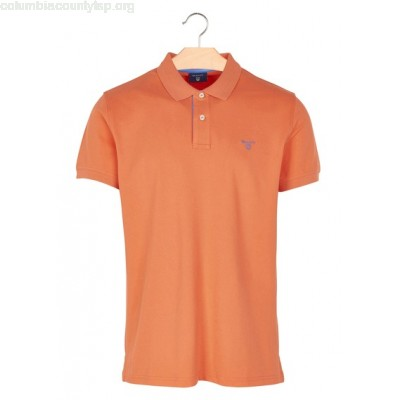 New collection REGULAR-FIT COTTON PIQUÉ POLO SHIRT ROUGE CLAIR GANT MEN 72p1P2mF