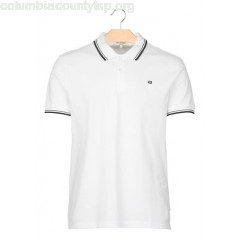 New collection REGULAR-FIT COTTON PIQUÉ POLO SHIRT WHITE BEN SHERMAN MEN H6WV4ruR