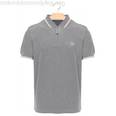 New collection REGULAR-FIT COTTON PIQUÉ POLO SHIRT WITH SHORT SLEEVES CARBON BLUE OXFORD/ECRU/E FRED PERRY MEN ghbNAh8h