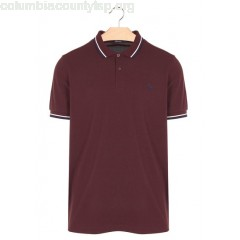 New collection REGULAR-FIT COTTON PIQUÉ POLO SHIRT WITH SHORT SLEEVES MAHOGANY/SNOW WHITE/CARBO FRED PERRY MEN XwUPnssk