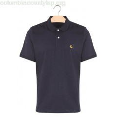 New collection REGULAR-FIT COTTON POLO SHIRT 1C90-DARK NAVY / GOLD CARHARTT WIP MEN 9qQjF1sG