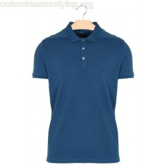 New collection REGULAR-FIT COTTON POLO SHIRT TURQUOISE IKKS MEN TQnYl0d9