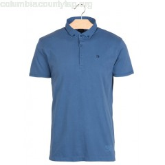 New collection REGULAR-FIT COTTON POLO SHIRT WORKER BLUE SCOTCH AND SODA MEN AXPmTdeb