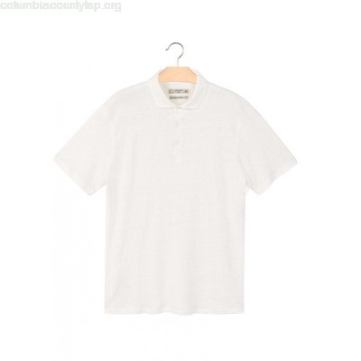 New collection REGULAR-FIT LINEN POLO SHIRT OFFWHITE MANGO MEN mWh04i0e