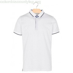New collection REGULAR-FIT PRINTED COTTON POLO SHIRT BLANC BEST MOUNTAIN MEN OCP4vyyx
