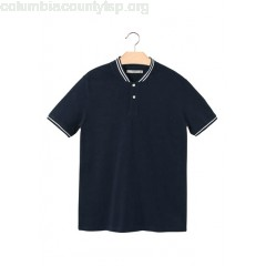 New collection REGULAR-FIT SHORT-SLEEVED STRETCH COTTON POLO SHIRT NAVY MANGO MEN vz01LugQ
