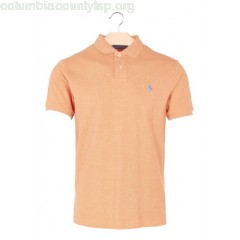 New collection SHORT-SLEEVED SLIM-FIT COTTON POLO SHIRT BEACH ORANGE HEATHER POLO RALPH LAUREN MEN nx5a7v8o