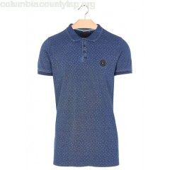 New collection SHORT-SLEEVED SLIM-FIT COTTON POLO SHIRT INDIGO LE TEMPS DES CERISES MEN KdrVQya1