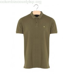 New collection SLIM-FIT COTTON PIQUÉ POLO SHIRT ARMY SCOTCH AND SODA MEN qzHZhZEU