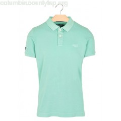 New collection SLIM-FIT COTTON PIQUÉ POLO SHIRT AWESOME MINT SUPERDRY MEN jpits4fX