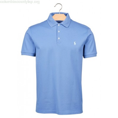 New collection SLIM-FIT COTTON PIQUÉ POLO SHIRT CITY BLUE POLO RALPH LAUREN MEN zDQgX7EY